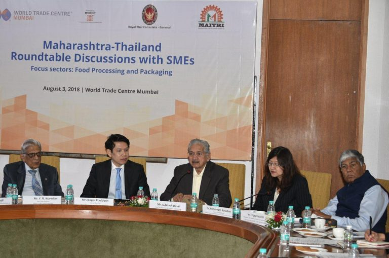 Maharashtra looks for Thailand's support in food, dairy processing and SME sectors, says Mr. Desai