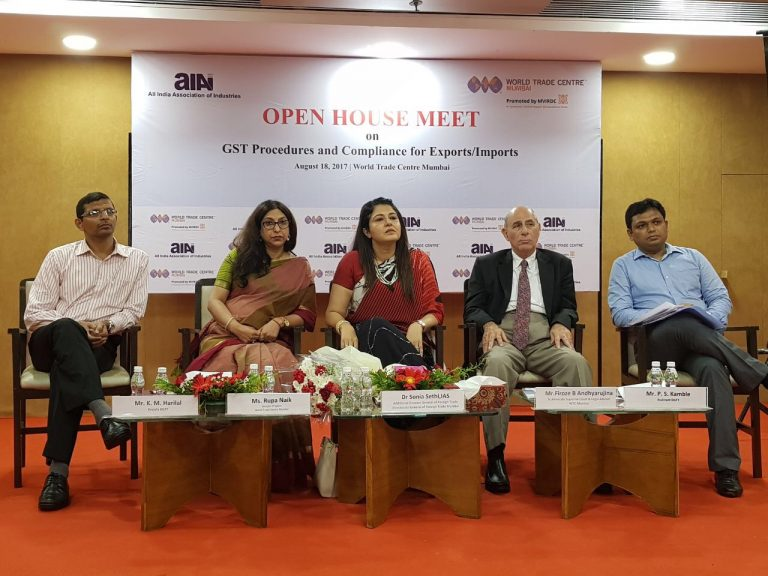 Dr. Sonia Sethi, Additional DGFT interacts with industry to enhance exports at the Open House Meeting organized by All India Association of Industries (AIAI) and World Trade Centre Mumbai