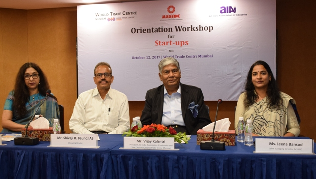 More than 100 start-ups attended the orientation workshop organized by MSSIDC, AIAI and WTC Mumbai